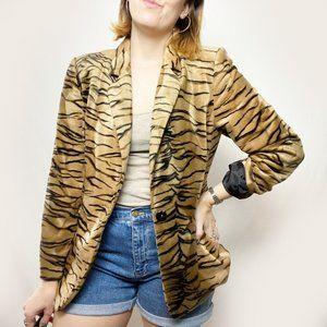 Vintage Harve Benard Tiger Stripe Velvet Blazer 12